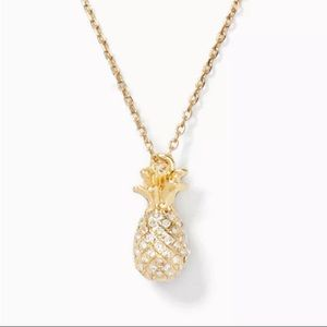 Kate Spade By the Pool Crystal Pineapple Necklace
